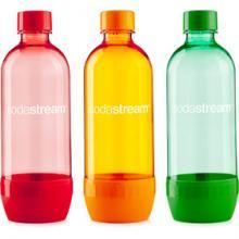 Fľaša TRIPACK 1l ORANGE/GREEN/RED SODAST